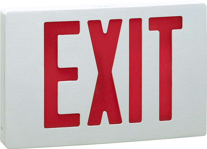 EXIT - CA - NYC New York City-Approved Cast Aluminum Exit Sign