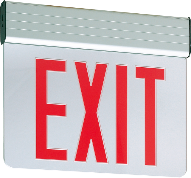 EXIT - EL - NYC New York City-Approved Edge-Lit Exit Sign