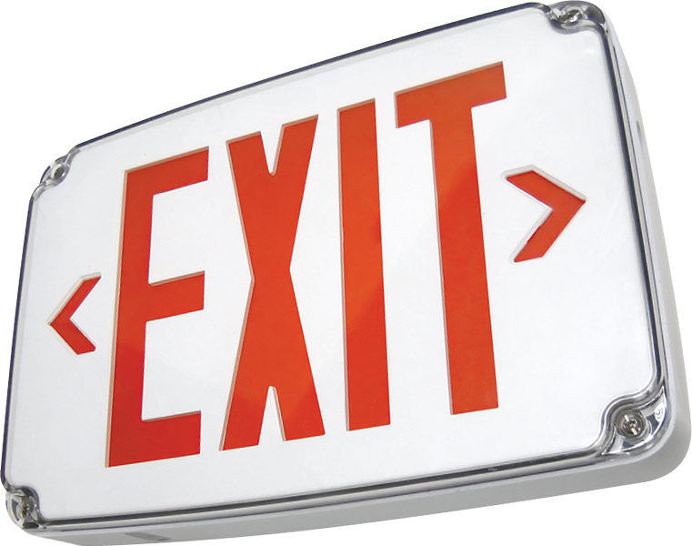 EXIT - WET - CP Compact Wet Location EXIT Sign
